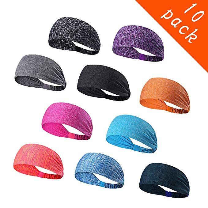 Men Women 10 Colors Sport Sweatband Headband Yoga Running Stretch Headband S-3