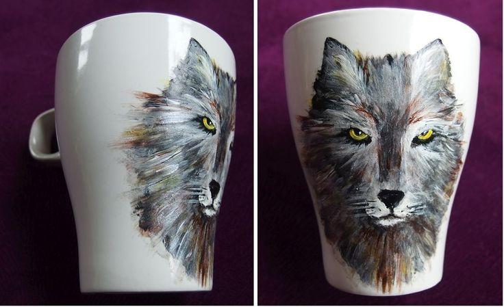 #xantosia_art #xantosia #wilk #wolf #lup #lupus #kubek #mug #cup #porcelain #ceramic #handpainted #reczniemalowane #handmade #porcelainpainter #porcelart #porcelainart #teatime #tea #coffeetime #design #decor #nature #art