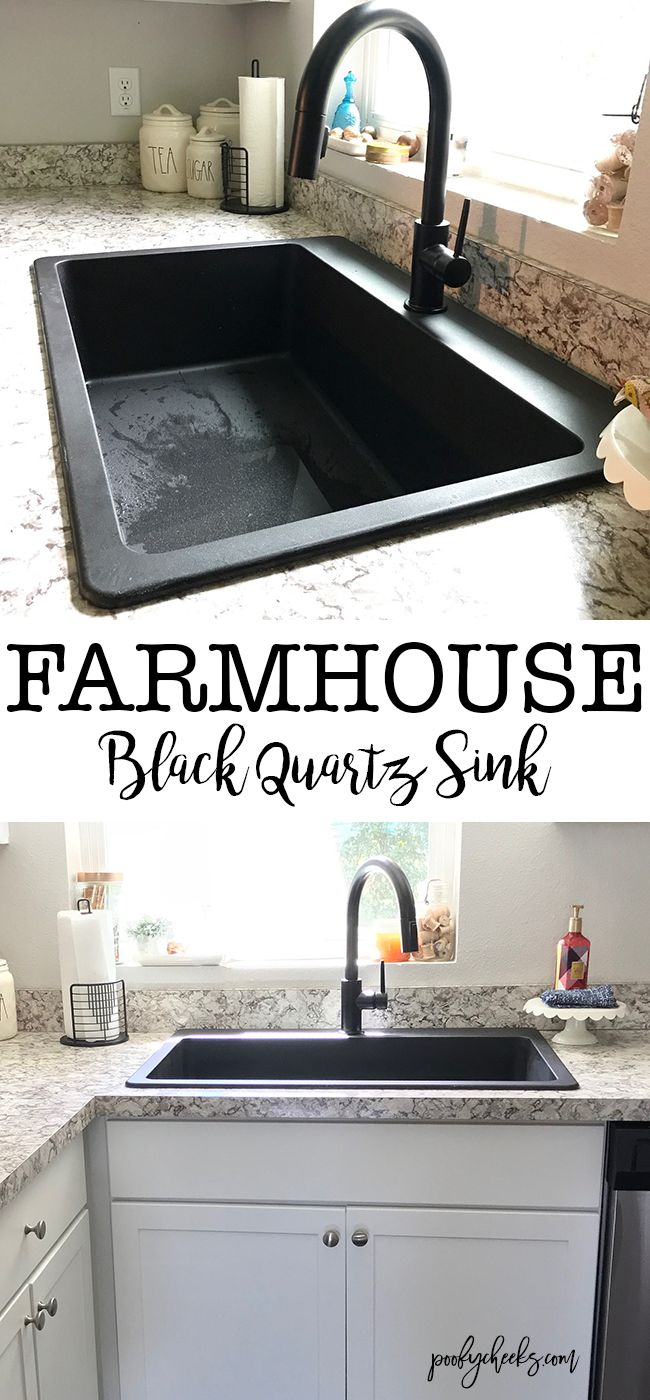 Farmhouse Sink and Faucet Black Sink and Faucet in 2020