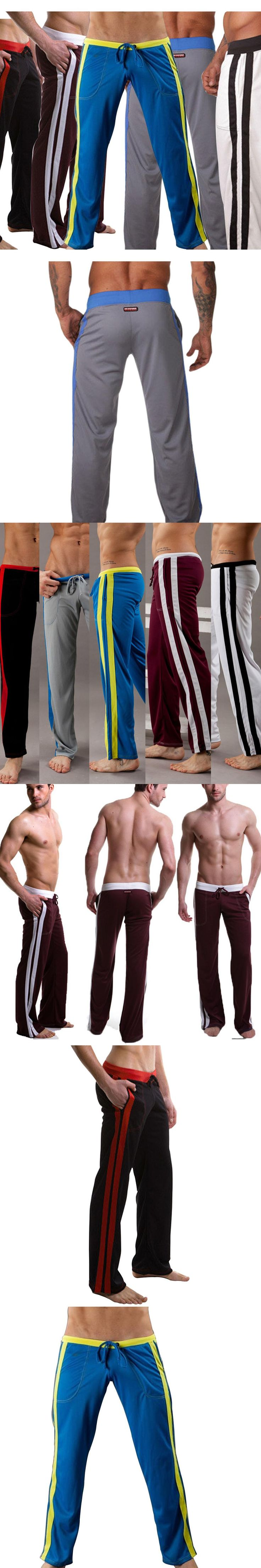 Men Underwear Breathable  Pants Comfort Tether Casual Dance Baggy Trousers Slacks -MX8
