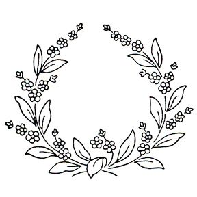 Forget Me Not Flowers in a wreath, cute little pattern