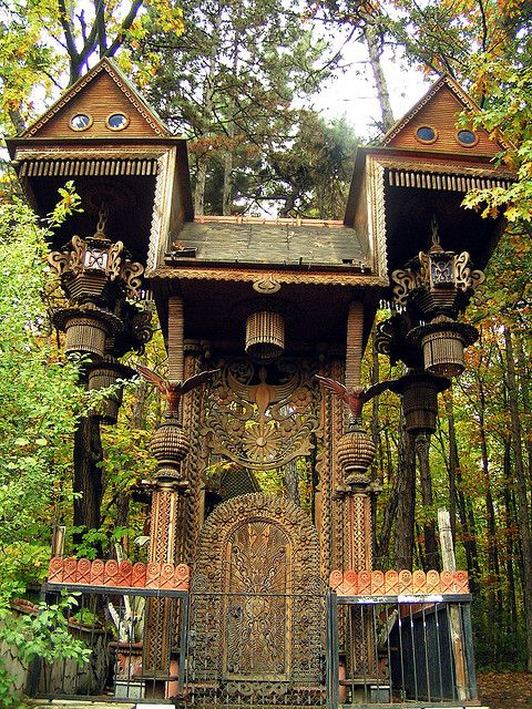 Out of a Russian fairytale ~ Sofia, Bulgaria...gatehouse?treehouse?hmm