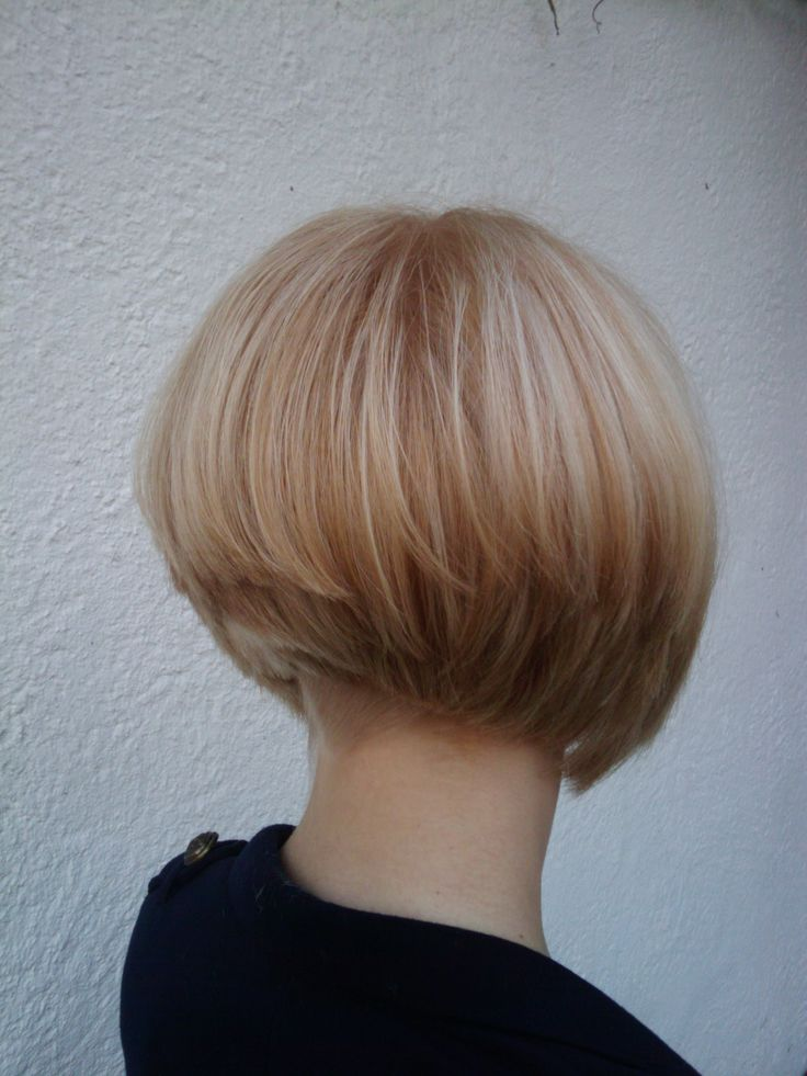 Undercut Bob Back View Short Hairstyle 2013