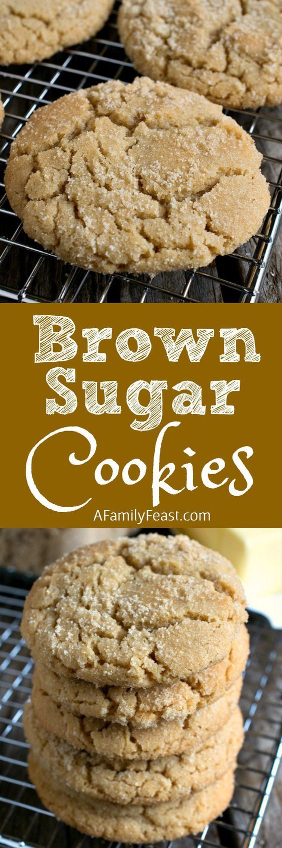 Brown Sugar Cookies ~ a clever twist on the traditional sugar cookie recipe thanks to some simple swaps that add great flavor!