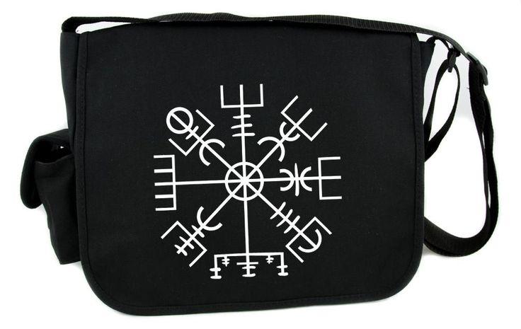 Vegvisir Viking Compass Symbol Messenger Bag Crossbody Bag Norse Mythology  #punkrock #goth #alternativegirl #rave #rockabillygirl #gothgoth #psychobillygirl #nugoth #emo #gothclothing