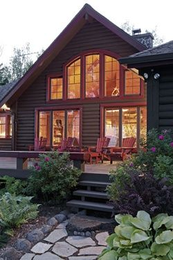 Adirondack cabin remodel exterior - Cabin Life magazine - Photo by Greg Page Studios