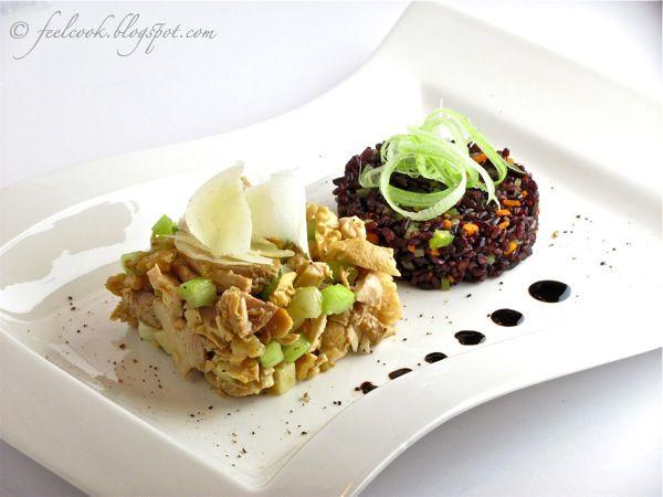 FeelCook cucina per passione: Insalata di pollo con tortino di riso Venere
