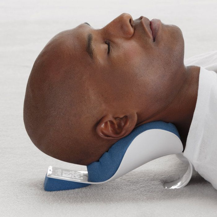 Get real neck relief in minutes. REAL-EaSE® neck support helps release neck and shoulder tension in just 10–15 minutes a day. Unique, cervical shaped support perfectly cradles your neck at the base of your skull to help release muscle tension in the neck, shoulders and jaw—while relieving tightness and soreness.
