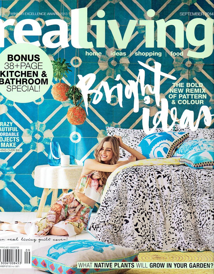 We are in this month's Real Living Magazine (Australia) September 2014, #cowhide #cowhide rug