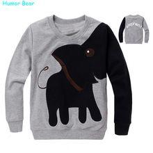 Humor Beer Mooie Olifant kinderen kids jongens meisje Sweatshirts Lente Herfst Casual kinderen baby trui kleding(China (Mainland))