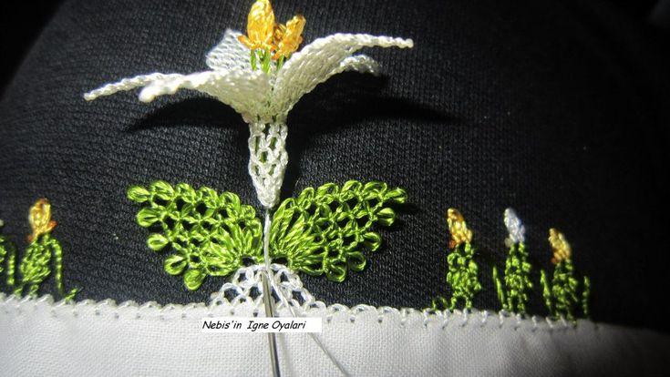 İğne Oyası Kabak Çiçeğinin Yapılışı