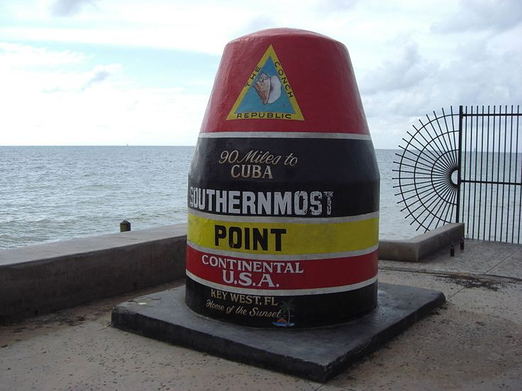 Southernmost point continental USA, Key West, Florida,
