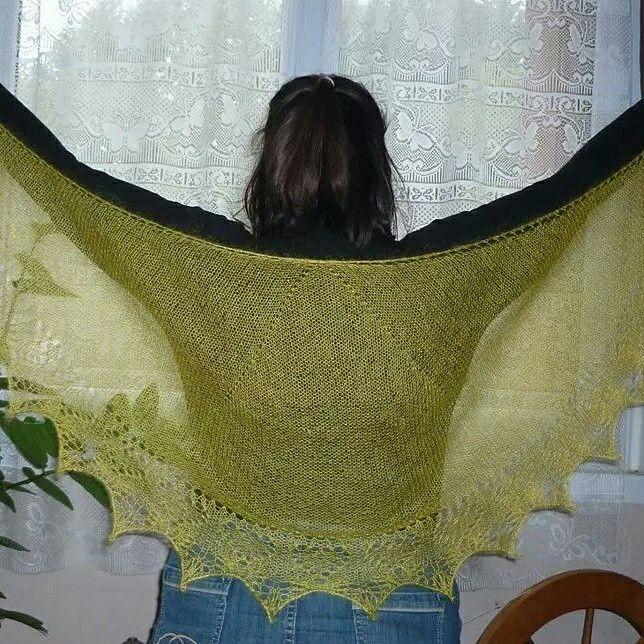 Châle petits coeurs de Mar'Laine tricote