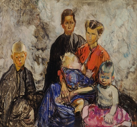 Frances Hodgkins Belgian Refugees 1916. Oil on canvas. Collection of Christchurch Art Gallery Te Puna o Waiwhetu, purchased with the assistance of the National Art Collections Fund, London 1980