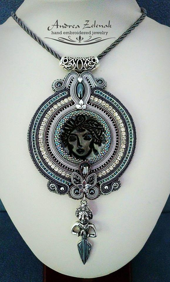 Soutache necklace - Andrea Zelenak S0414