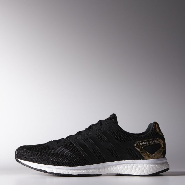 These featherweight shoes are built for endurance. Made with boxing-inspired details like a leather heel designed after gold championship belts, they feature an air mesh upper. boost™ returns energy to every step you make for long-distance runs. Featuring TORSION® SYSTEM midfoot support, with a flexible QUICKSTRIKE outsole.