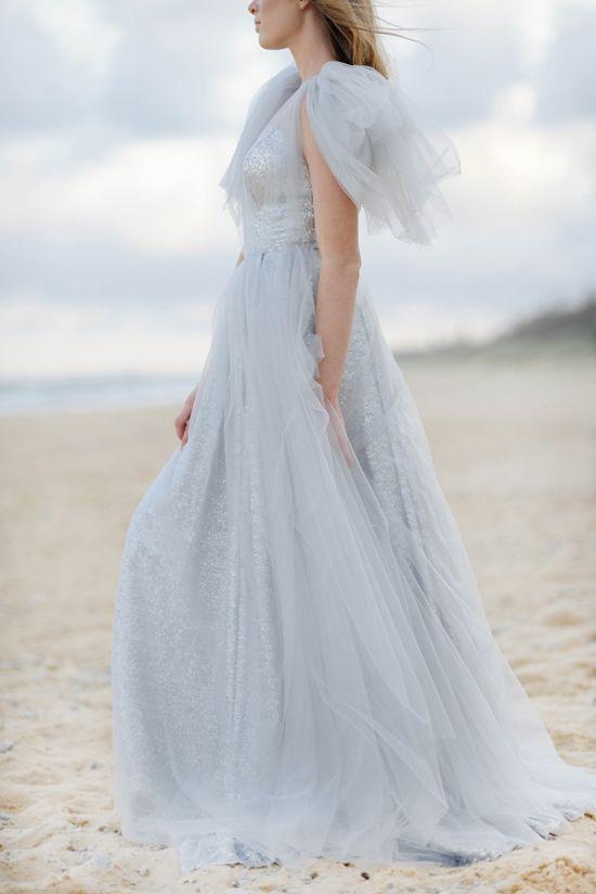 Beautiful Beach Bridal Gowns From The Babushka Ballerina #powderblue