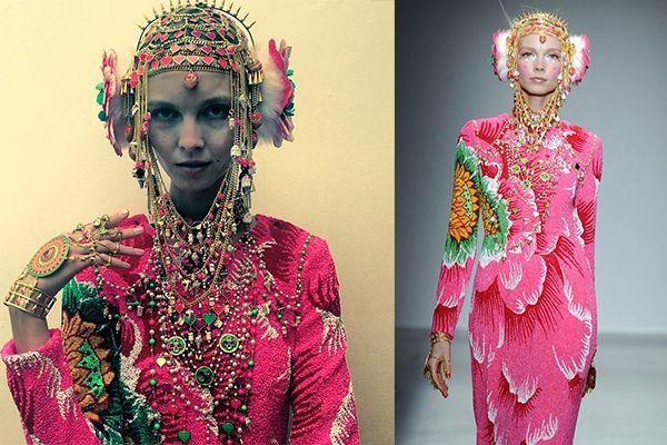 manish arora biography - Google Search Paris 2014. É olhado como o John Galliano da india. É conhecido pela palette de cores psicadélicas e materiais kitsch que combina com artesanato tradicional indiano, como bordados, aplicações e contas com silhuetas ocidentais