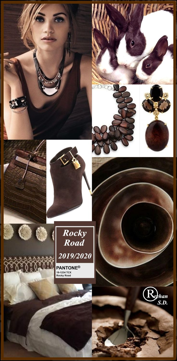 """"""" Rocky Road """" Pantone – Autumn/ Winter 2019/ 2020 Color- by Reyhan S.D."""
