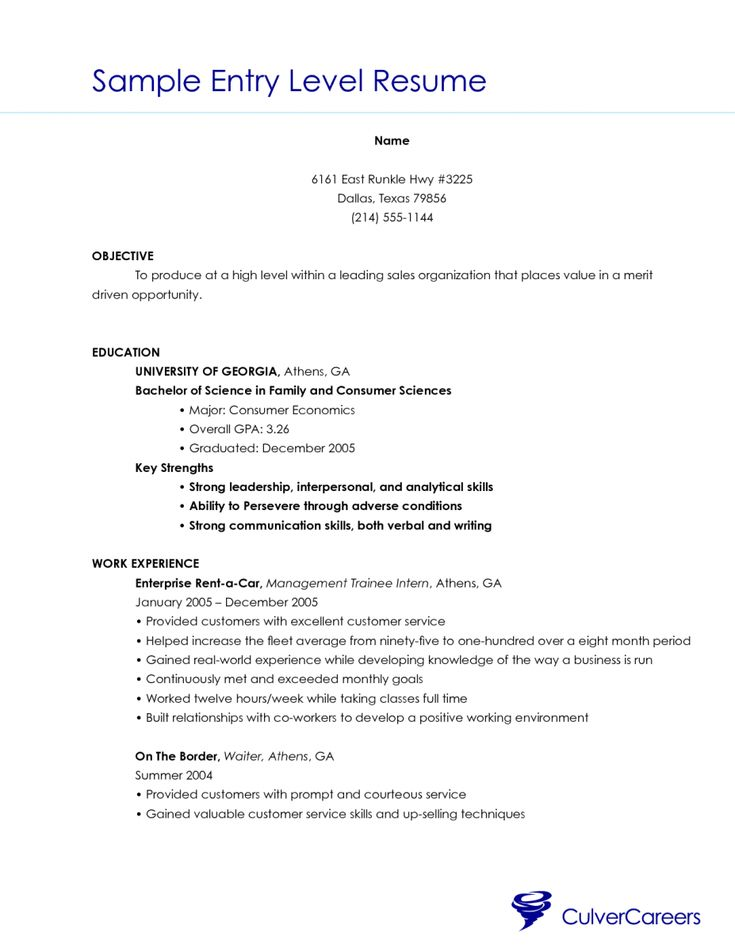 The 25+ best High school resume template ideas on Pinterest Job - resume sample for waiter