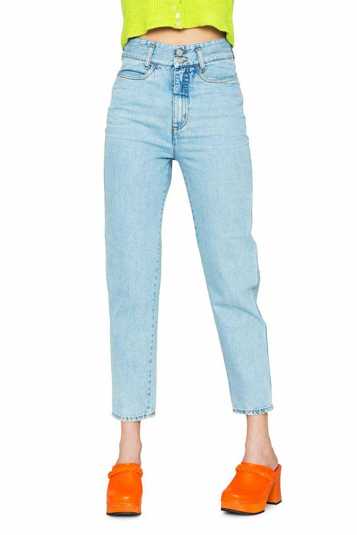 Swedish Hasbeens HasJeans Mom Jeans Light Denim