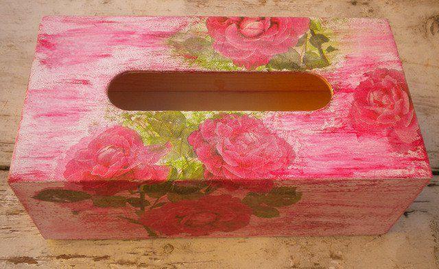 Chustecznik drewniany malowany ręcznie - Edyta-86 - Dekoracje