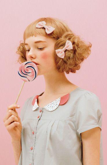 pined by nidnirand 2014 June*Fashion collection[ファッションコレクション]|ちびちび衿がポイント ふんわりコットンブラウスの会|フェリシモ