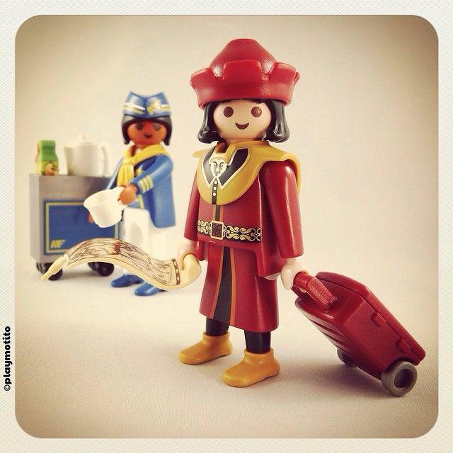 Marco Polo del Siglo XXI viaja en First Class #playmobil #playmotito