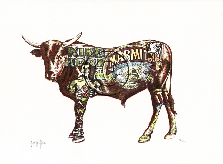 Art by Jan Coetzee: Nguni Prints BelAfrique your personal travel planner - www.BelAfrique.com