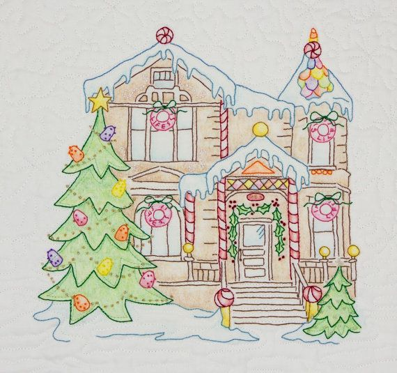 Gingerbread House Quilt Pattern Free : 32 best images about Crabapple Hill Quilt Patterns Examples of Block & Thread Colors on ...