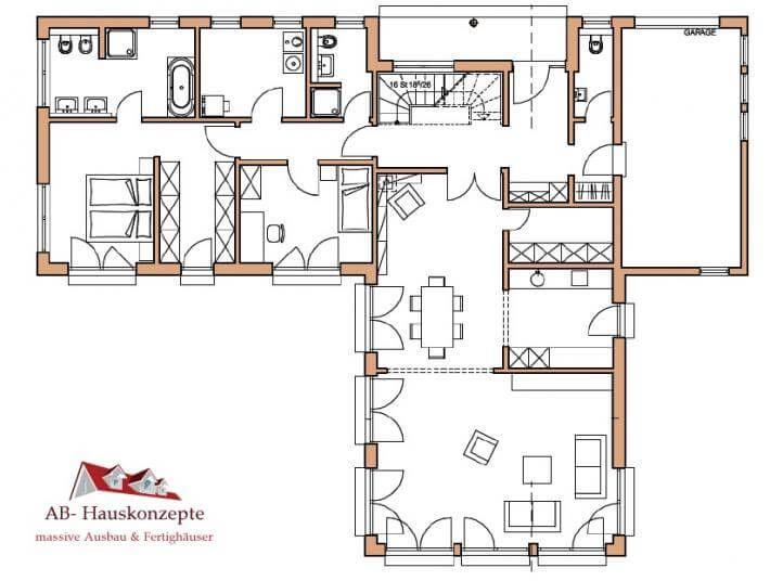 Die besten 25 winkelbungalow grundriss ideen auf for Grundriss einfamilienhaus 140 qm
