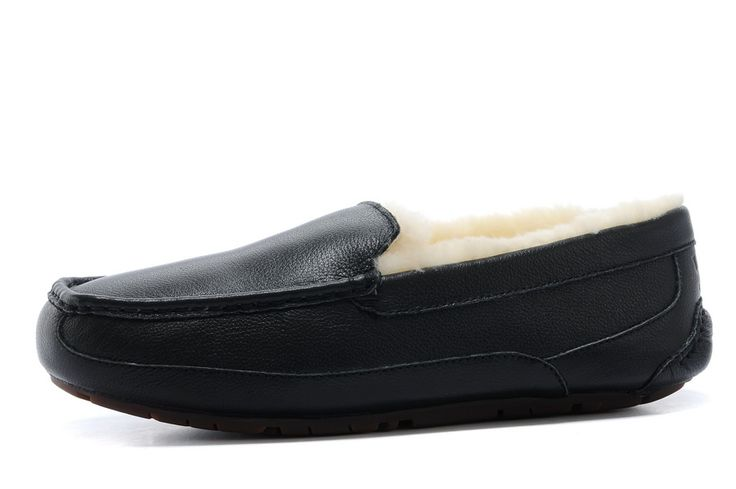 UGG Black Friday 2016 Ascot-Leather 5379 Slippers Black