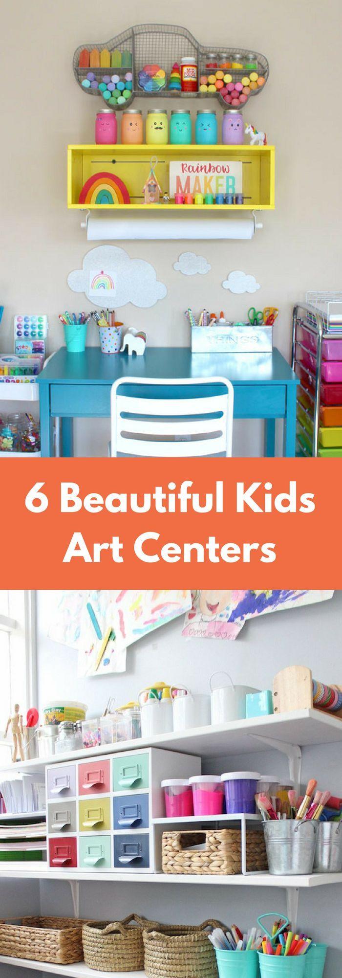 6 verschiedene Kunstcenter-Ideen für Kinder bei Ihnen zu Hause!  #hause #ideen …