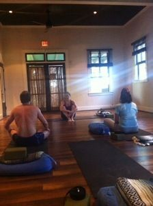 Yoga retret at Lumeria Maui.. yogatime:)