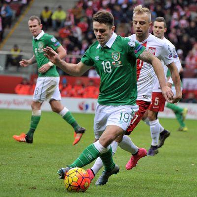 Robbie Brady at the UEFA Euro 2016 Qualifying (Poland vs Ireland) Copyright B&O Press Photo