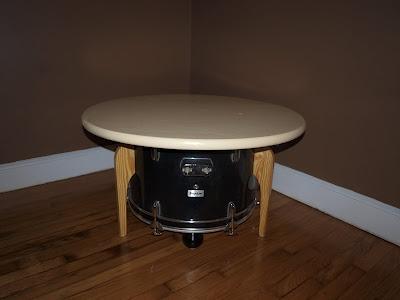 Bass drum coffee table/toy storage box. 2012.