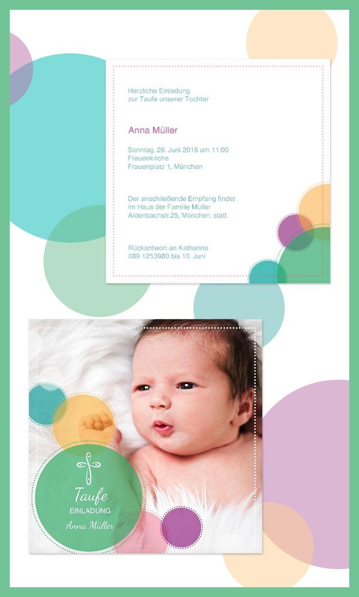 10 besten Einladungen & Dankeskarten zur Taufe Bilder auf Pinterest ...