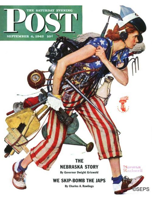 Norman Rockwell -- Rosie the Riveter