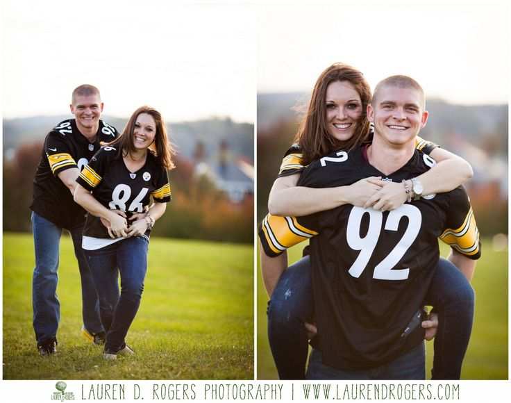 Pittsburgh steelers engagement photos | fall engagement photo ideas and poses | autumn engagement photo ideas and poses | Staunton Engagement Photography | Couples shoot in Virginia | Lauren D Rogers Photography www.laurendrogers.com | More at link