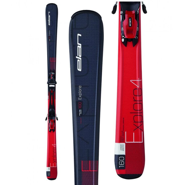 Elan Explore 4 Red Skis with EL10 Bindings '15/16 from @golfskipin