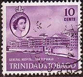 Trinidad and Tobago 1960 General Hospital Fine Used                    SG 289 Scott 95 Other West Indies and British Commonwealth Stamps HERE!