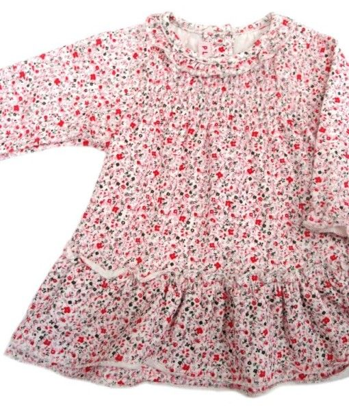 Beautiful Long sleeve print Dress.  Made from Jersey Cotton.  Available in sizes 3-6 months, 6-12 months 12-18 months and 18-24 months.