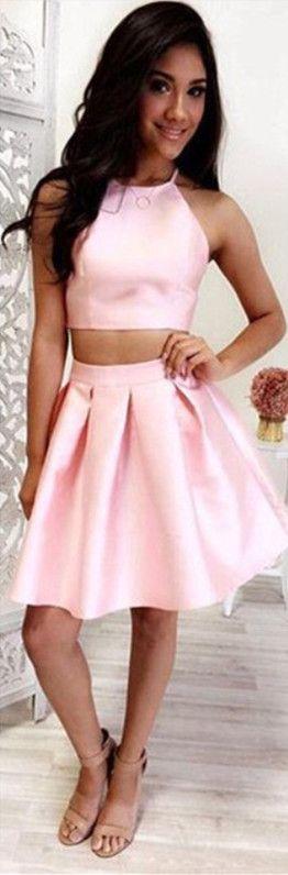 Short Pink Cheap Prom Dresses – fashion dresses