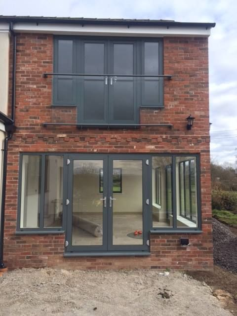 Aluminium frenchdoors and windows RAL 7016 www.csggroup.co.uk