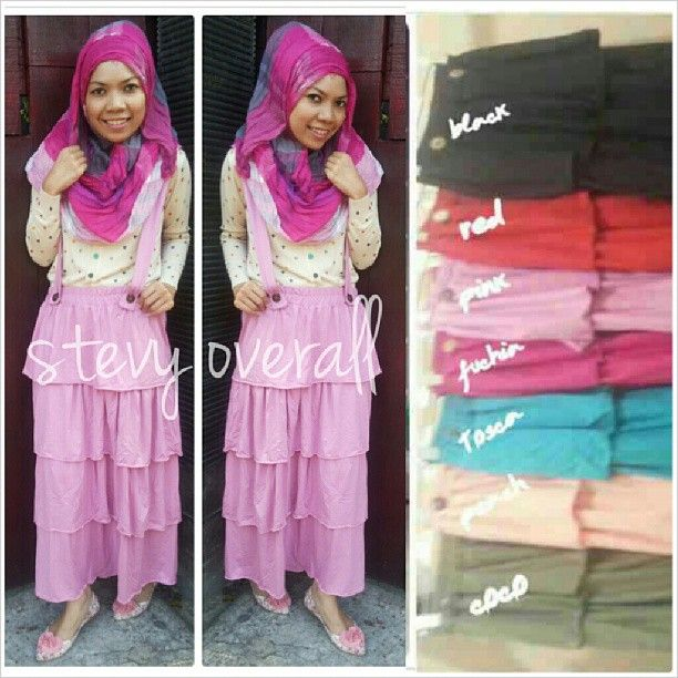 STEVY OVERALL•105RB•BAHAN KAOS PE•FIT TO L•