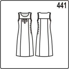 free pattern sundress with a yoke and pleats on the front of