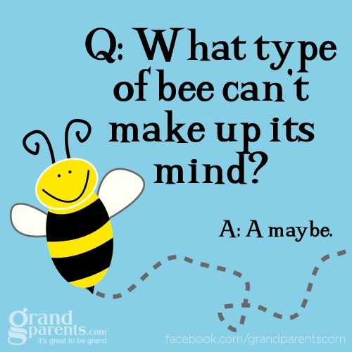 Q: What type of bee can't make up its mind? A: A may be.