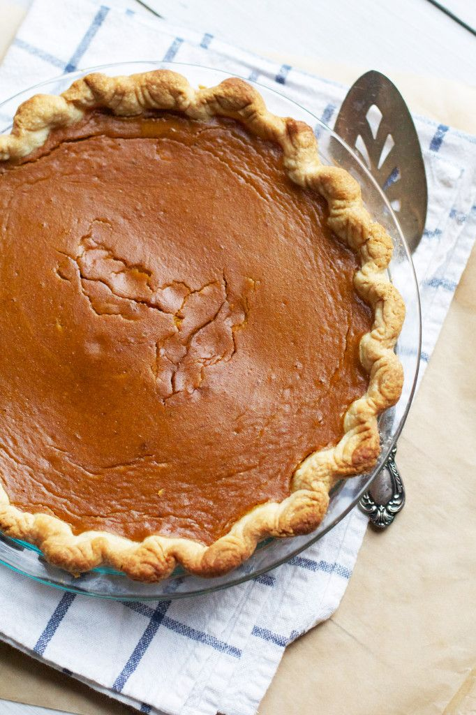Brown Sugar Pumpkin Pie- with cracks- just how I like it!