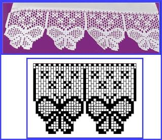 Häkeln Borte Bordüre Spitzen - crochet edging lace border BARRADOS DE CROCHÊ