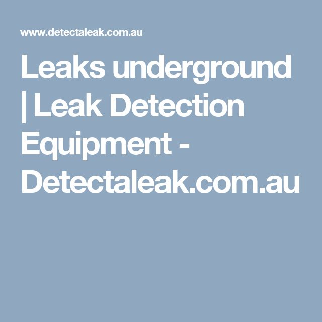 Pin On Detect A Leak